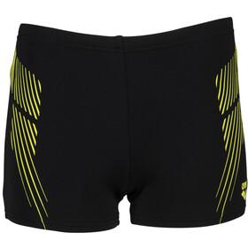 arena Streak Shorts Boys black/soft green
